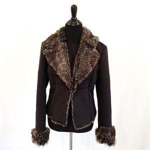 Women s Black Express Faux Fur Jacket on Poshmark d4c314355